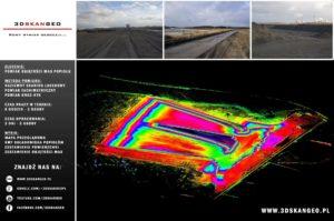 Pomiary objętości mas popiołu - skanowanie laserowe (2)