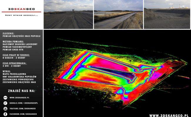 Pomiary objętości mas popiołu – skanowanie laserowe (2)