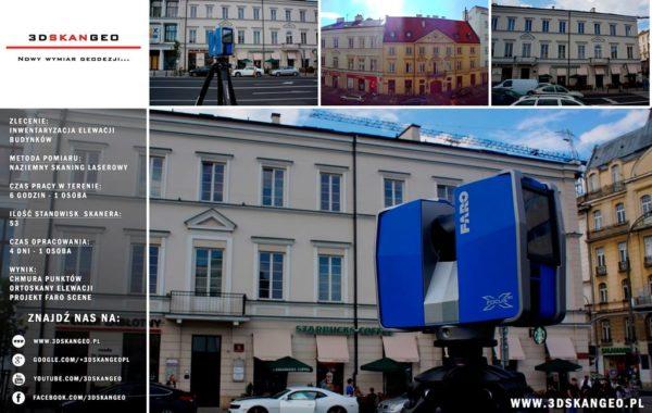 Skaning laserowy 3D na Nowym Świecie w Warszawie