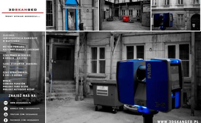 Inwentaryzacja architektoniczna kamienicy przy ul. Jasnej w Warszawie (2)