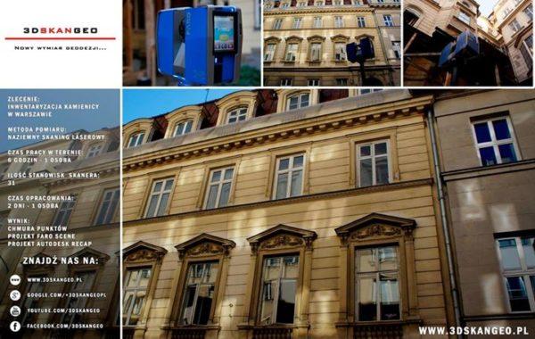 Inwentaryzacja architektoniczna kamienicy przy ul. Jasnej w Warszawie