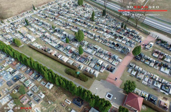 Aerofotografie i ortofotomapy cmentarza w Kałuszynie