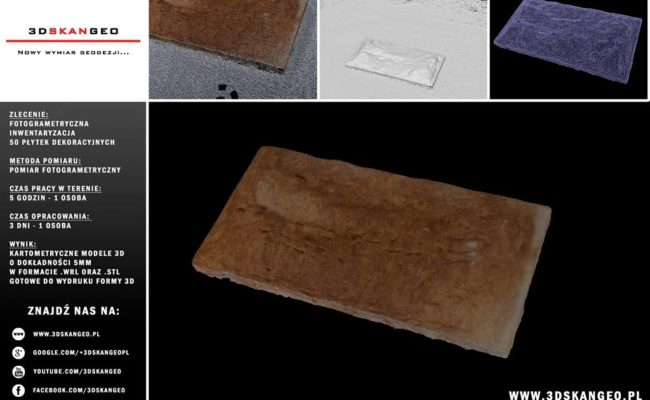 Inwentaryzacja fotogrametryczna płytek dekoracyjnych (1)