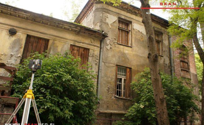Inwentaryzacja  elewacji budynku w Warszawie -skaning 3D (4)