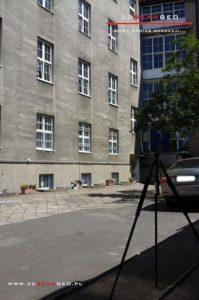 Skanowanie laserowe elewacji Pałacu Krasińskich w Warszawie (1)