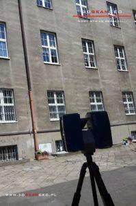Skanowanie laserowe elewacji Pałacu Krasińskich w Warszawie (2)