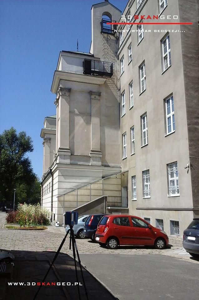 Skanowanie laserowe elewacji Pałacu Krasińskich w Warszawie (4)