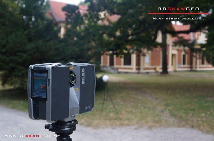 Skanowanie laserowe 3d terenów wokół Zamku w Łańcucie