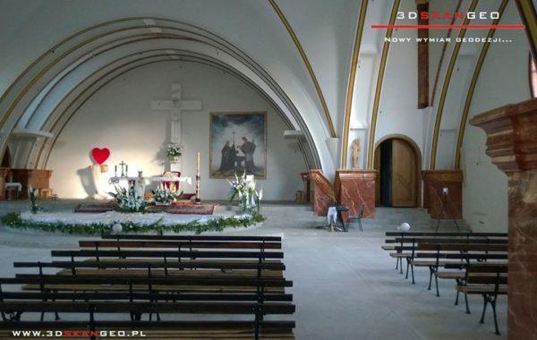 Skaning laserowy 3D wnętrza Kościoła