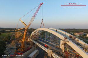 Budowa wiaduktu kolejowego S8 k. Mszczonowa. - aerofotografia (1)