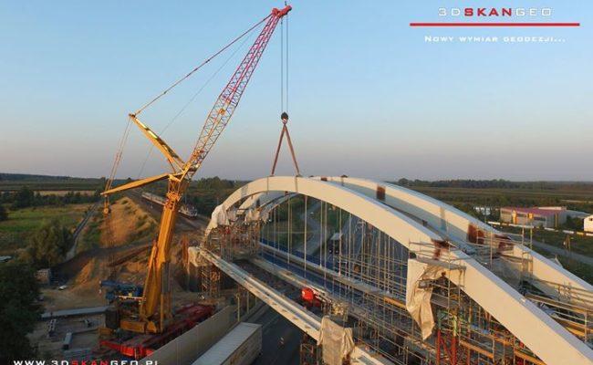 Budowa wiaduktu kolejowego S8 k. Mszczonowa. – aerofotografia (1)