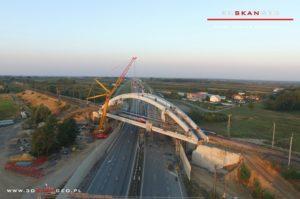 Budowa wiaduktu kolejowego S8 k. Mszczonowa. - aerofotografia (2)