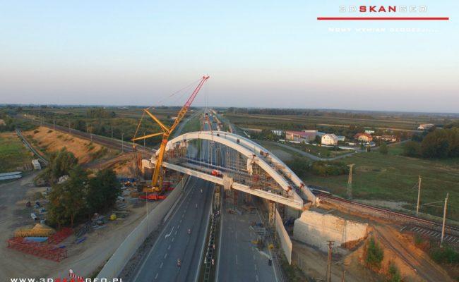 Budowa wiaduktu kolejowego S8 k. Mszczonowa. – aerofotografia (2)