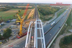 Budowa wiaduktu kolejowego S8 k. Mszczonowa. - aerofotografia (3)