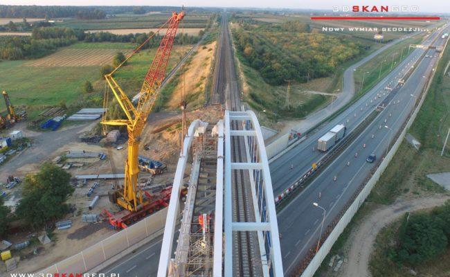 Budowa wiaduktu kolejowego S8 k. Mszczonowa. – aerofotografia (3)