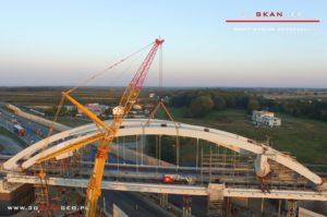 Budowa wiaduktu kolejowego S8 k. Mszczonowa. - aerofotografia (4)