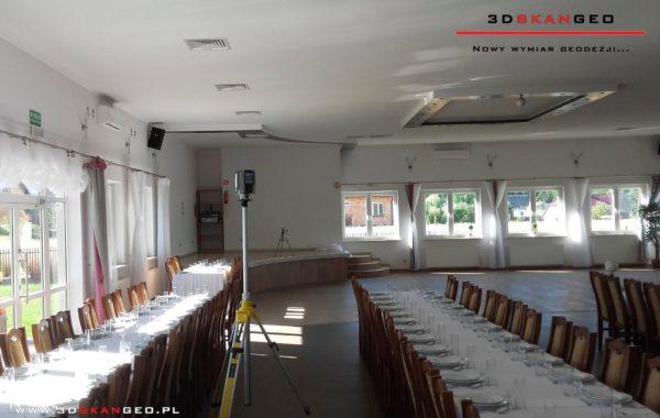 Inwentaryzacja architektoniczna sali weselnej w Barczącej