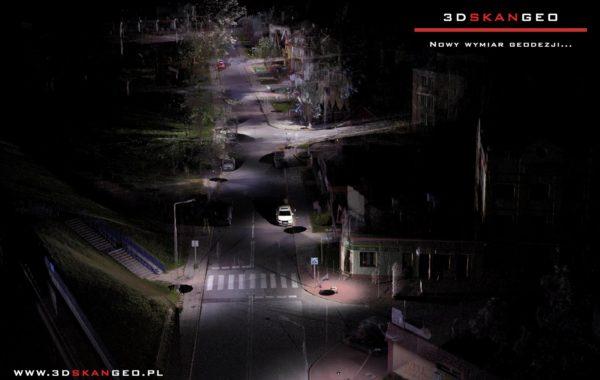Skanowanie laserowe infrastruktury drogowej