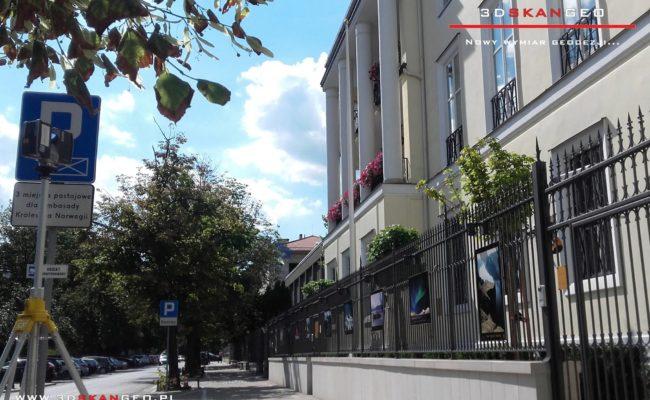 Skanowanie  3D Ambasady Norwegii w Warszawie (2)