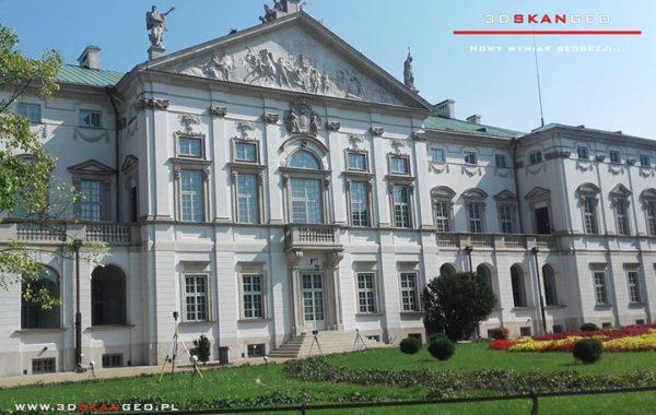 Skanowanie laserowe obiektu zabytkowego w Warszawie
