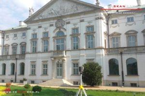 Skaning laserowy obiektu zabytkowego w Warszawie (1)