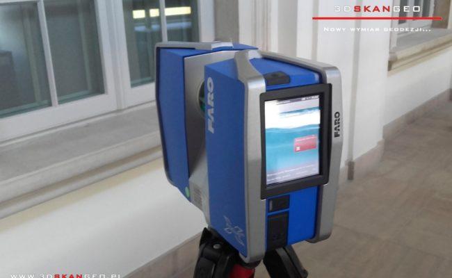 Skaning laserowy obiektu zabytkowego w Warszawie (2)