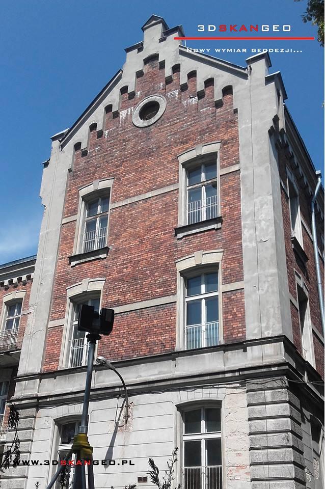 Skaning 3D kamienicy w Warszawie (2)