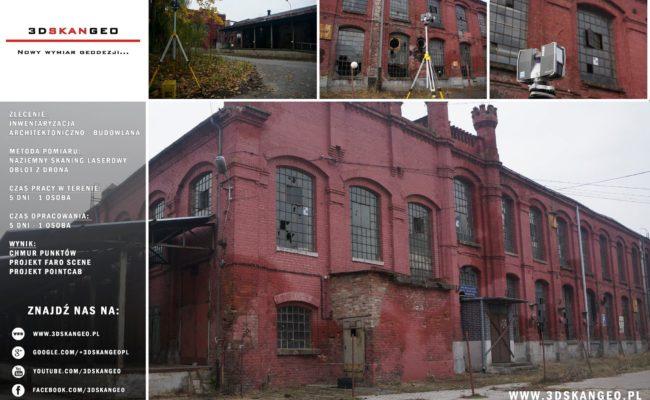 Inwentaryzacja architektoniczna fabryki przy ul. Piotrkowskiej w Łodzi (1)
