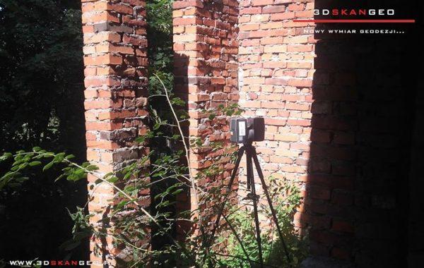 Skanowanie laserowe ruin obiektu budowlanego