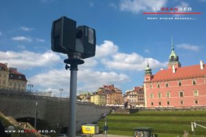 Skaning laserowy na Starówce w Warszawie (2)